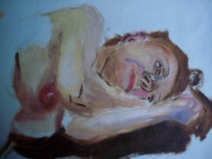 Life painting sketches in oil