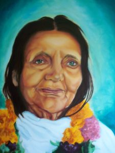 Anadamoyima. Portrait painting in oil. Commissioned for Heart of Yoga Foundation. Nov 2017. 70/50 cm