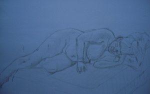 Life model Lily. Life Drawing Class, Christchurch, Dorset