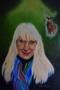Portrait of Jenny with Totem Deer