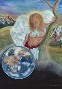 Archangel Michael. Oil painting. Completed June 2018.