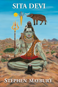 Sita Devi book cover illustration painting for Steve Maybury.