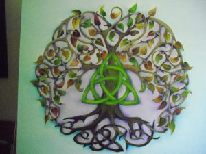 CELTIC TREE OF LIFE . COMMISSIONED PAINTING FOR ROBIN . 70 X 70 CM . OIL PAINTING.